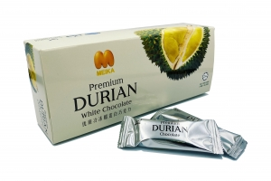 Premium Freeze Dried Durian White Chocolate Bar (75G)
